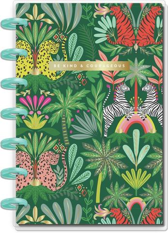 Блокнот в пунктирную линию-  Mini Happy Notes Notebook-60 л- Jungle Vibes