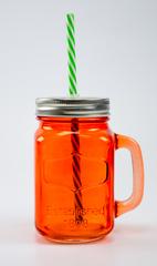 Баночка для смузи и коктейлей, оранжевая, фото 1