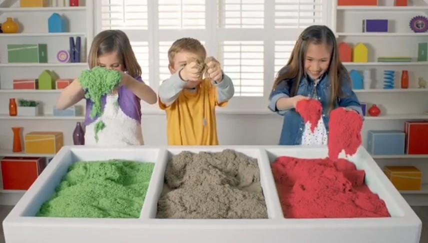 кинетический песок цветной