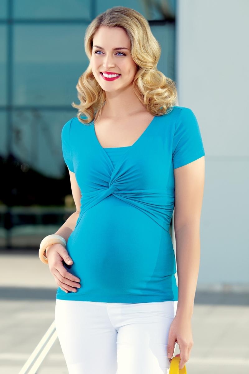 Блузка для беременных 01477 бирюзовый