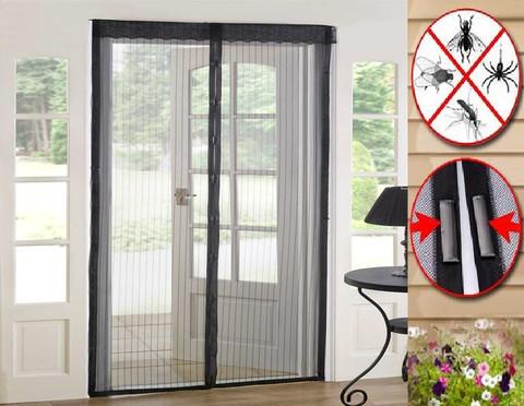 Сетка москитная для дверей 7 магнитов 100х210  (черная)
