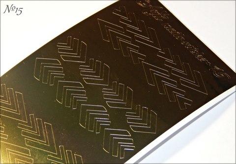 Стикер Arti Nails №15 GOLD