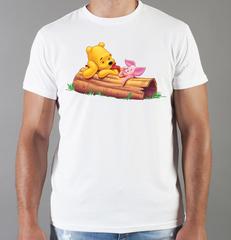 Футболка с принтом мультфильма Винни-Пух (Winnie the Pooh) белая 0011