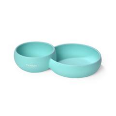 Двойная тарелка c разделителем 24x15x5 см / 580 мл Fissman 9606