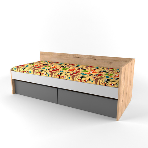 Кровать малая с наматрасником  Твист Лофт 38 попугаев