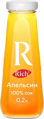 """Сок """"Rich"""" апельсин ст/б 0,2л"""