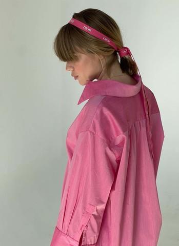 Рубашка OVERSIZE розовая