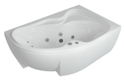 Ванна акриловая Aquatek Вега 170х105см. на каркасе и сливом-переливом  левая/правая