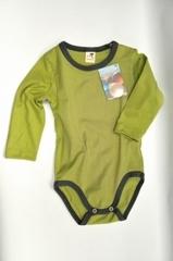 Боди Storchenkinder с кнопками на левом плече, Зеленый