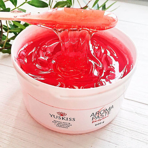 Цветная арома-паста для шугаринга «Клубника» TM YUSKISS 1500 g SOFT