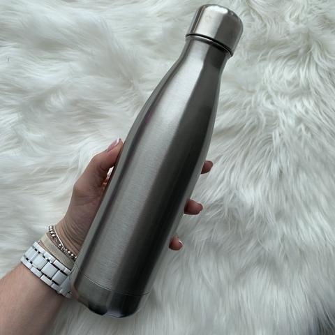 Бутылка для воды 500 мл /матовое серебро/