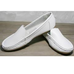 Мокасины модные женские AESD 902 White