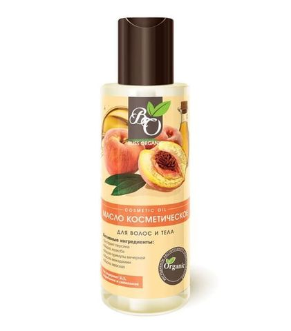 Натуральное масло косметическое с экстрактом персика, Bliss organic 110 мл