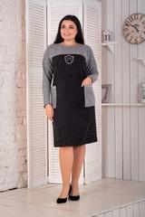 Сідні. Тепле комбіноване плаття великих розмірів. Чорний