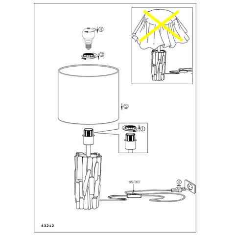 Настольная лампа Eglo PORTISHEAD 43212 2
