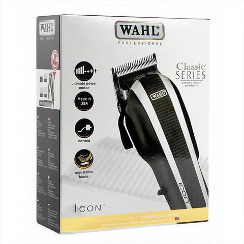 Машинка для стрижки Wahl Icon, сетевая, 4 насадки, черная