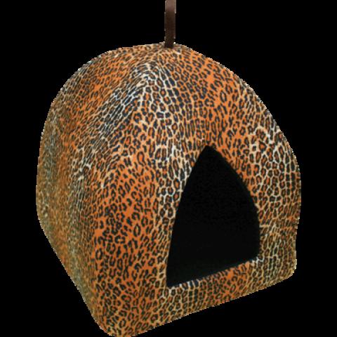 Зооник дом для кошки вигвам (ситец) (37х37х38)