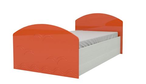 Кровать Юниор-2 оранжевый металлик