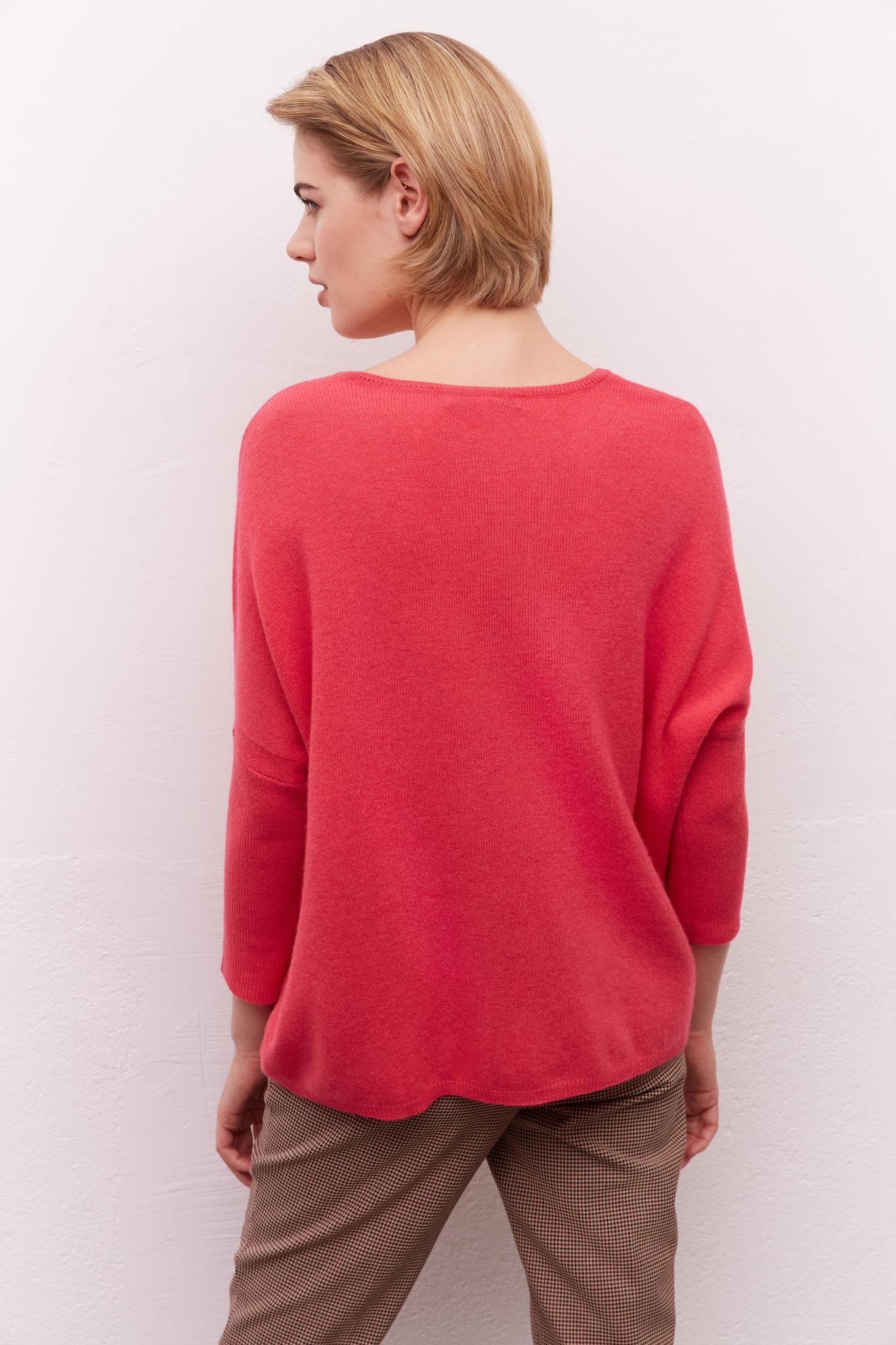 LOUISON - Кашемировый свитер свободного кроя с V-образным вырезом