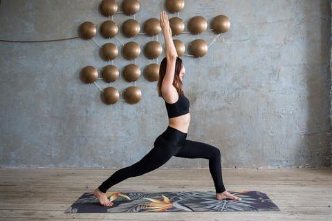 Коврик для йоги Джунгли 183*61*0,35 см из микрофибры и каучука