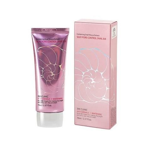 [3W CLINIC] УЛИТОЧНЫЙ ВВ КРЕМ С СЕБУМ КОНТРОЛЕМ Silky Pore Control BB Cream (Pink), 70 мл