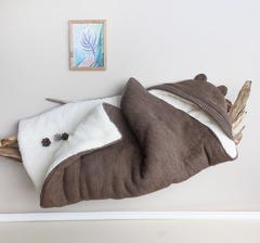 Зимний конверт для новорожденных Мишутка (коричневый)