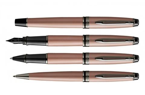 Ручка шариковая Waterman Expert Rose Gold, цвет чернил Mblue123