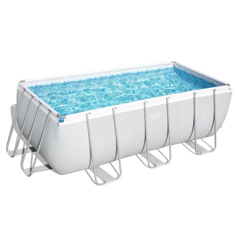 Каркасный прямоугольный бассейн Bestway 56457 (412х201х122 см) с песочным фильтром и лестницей / 6890