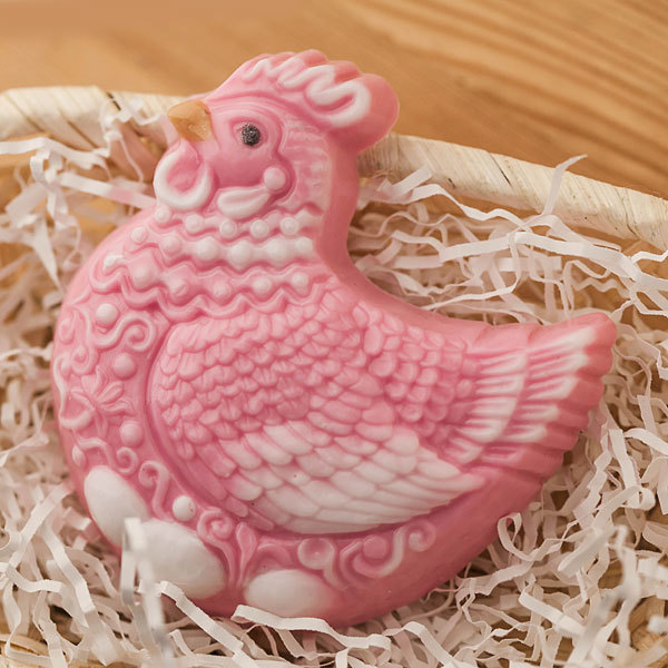 Мыло Курица в орнаменте. Форма пластиковая