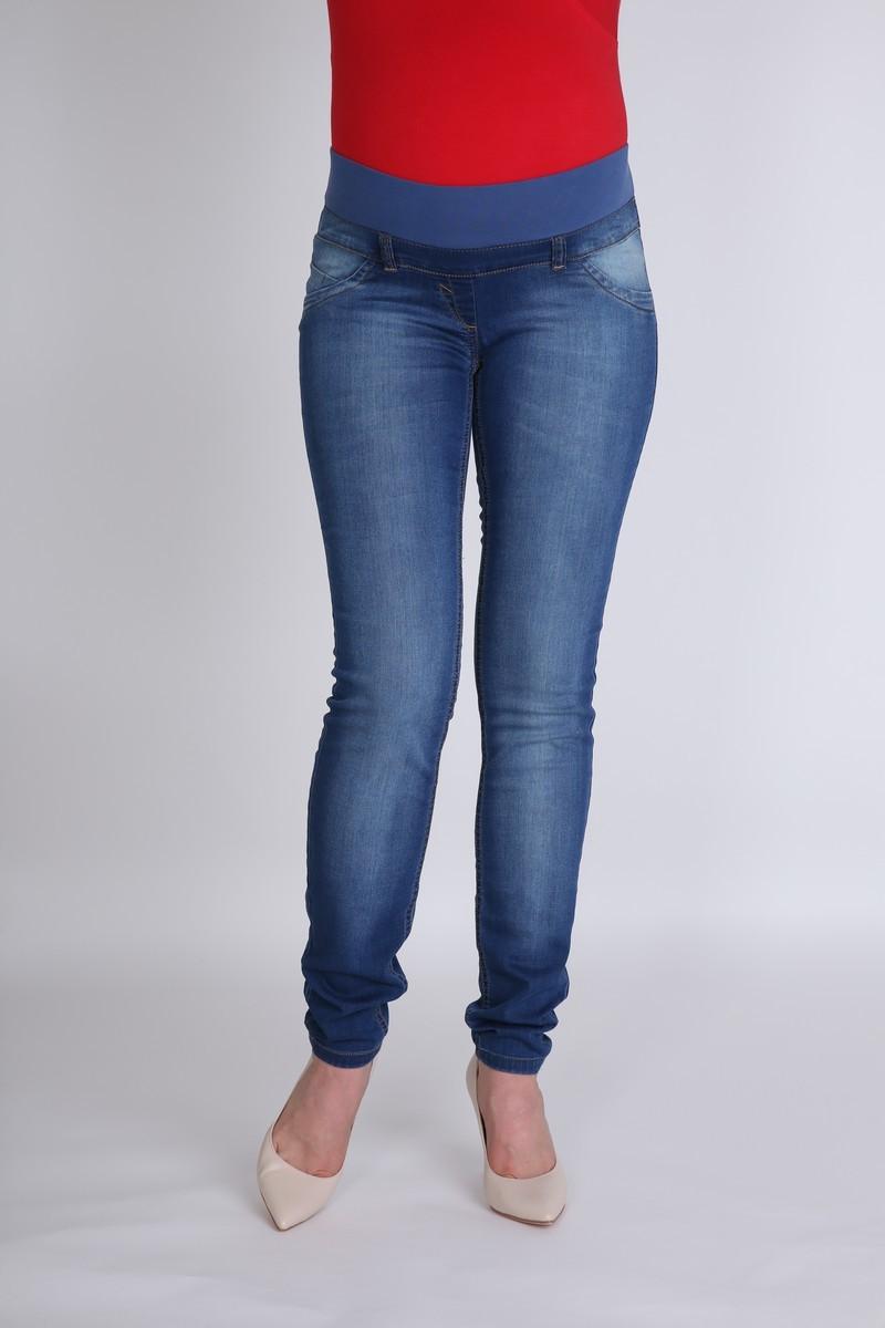 Фото джинсы для беременных MAMA`S FANTASY, зауженные, низкая вставка, потертости от магазина СкороМама, синий, размеры.