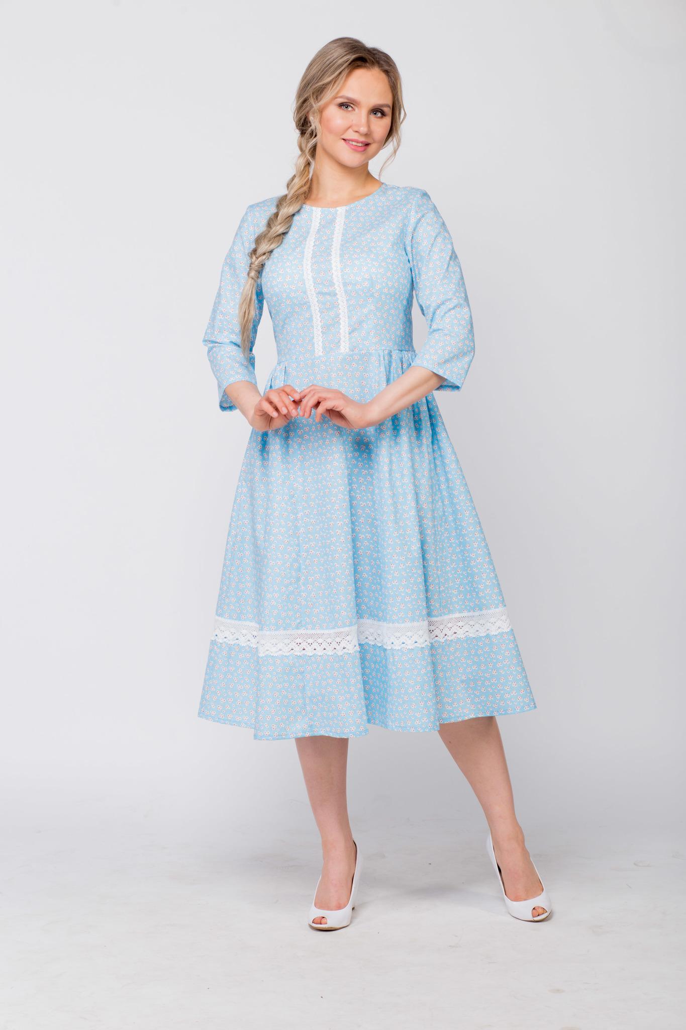 Платье хлопковое Кружевные маргаритки купить