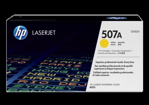Оригинальный картридж HP CE402A (№507A), жёлтый