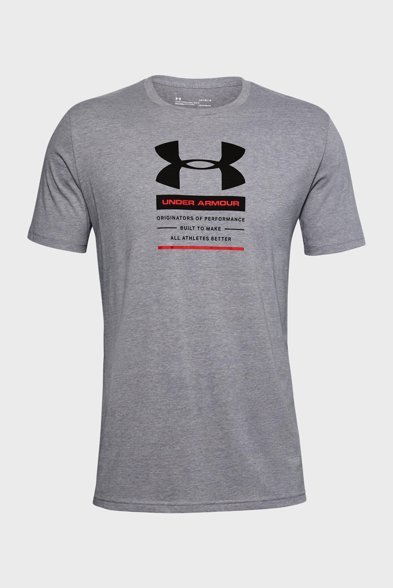Мужская серая спортивная футболка UA ORIGINATORS CENTER SS Under Armour