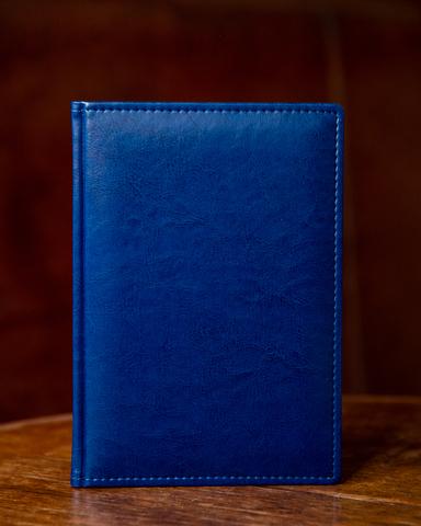 Набор с гравировкой: Ежедневник синий  и Шариковая ручка Parker Jotter Essential, St. Steel GT123