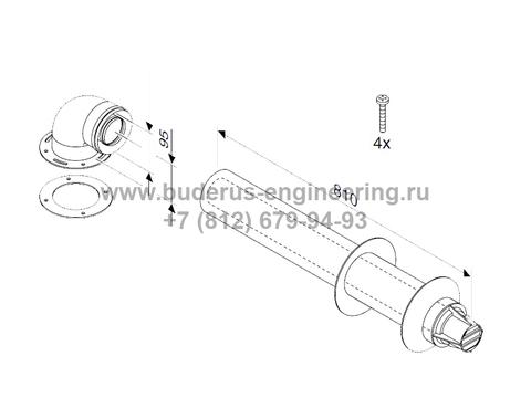 Комплект Горизонтальный 810мм DN60/100 для Buderus Logamax U072