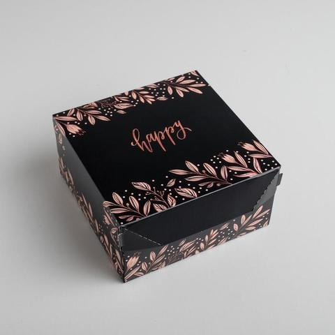 Коробка складная «Счастье», 17  9  17 см