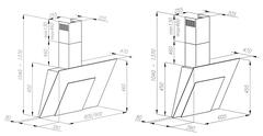 Вытяжка Konigin Cleona White 90 - схема