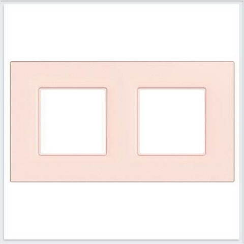 Рамка на 2 поста. Цвет Розовый жемчуг. Schneider Electric Unica Quadro. MGU4.704.37