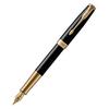 Parker Sonnet Core - LaqBlack GT, перьевая ручка, F, BL