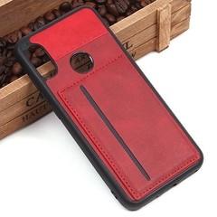 Чехол с карманом под пластиковые карты для Xiaomi Mi A2 Lite (красный)