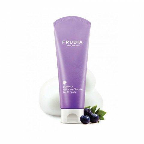 Frudia Blueberry Hydrating Cleansing Gel To Foam/Фрудиа Увлажняющая гель-пенка для умывания с черникой