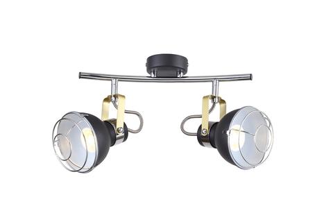 Настенный светильник Escada 1135/2A E14*40W Black/Chrome