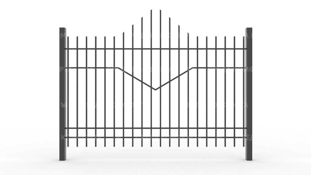 Забор из профильной трубы ZBR0149