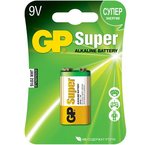 Батарейки GP 1604A-U1 Alkaline 6LF22, крона, 9V, блистер 10/144