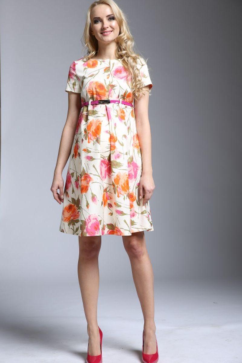 Фото платье для беременных и кормящих Mama i Ja от магазина СкороМама, цветы, размеры.