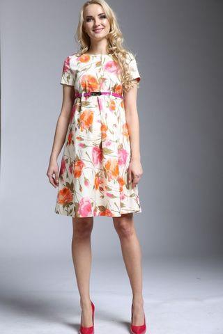 Платье для беременных и кормящих 09273 цветы