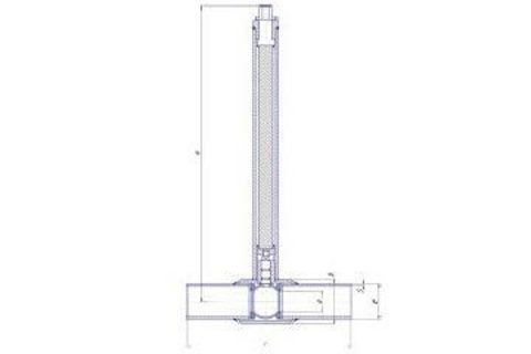 Конструкция LD КШ.Ц.П.GAS.250.025.П/П.02.Н=1500мм полный проход с редуктором