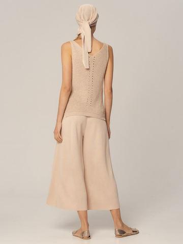 Женские брюки бежевого цвета из вискозы - фото 3
