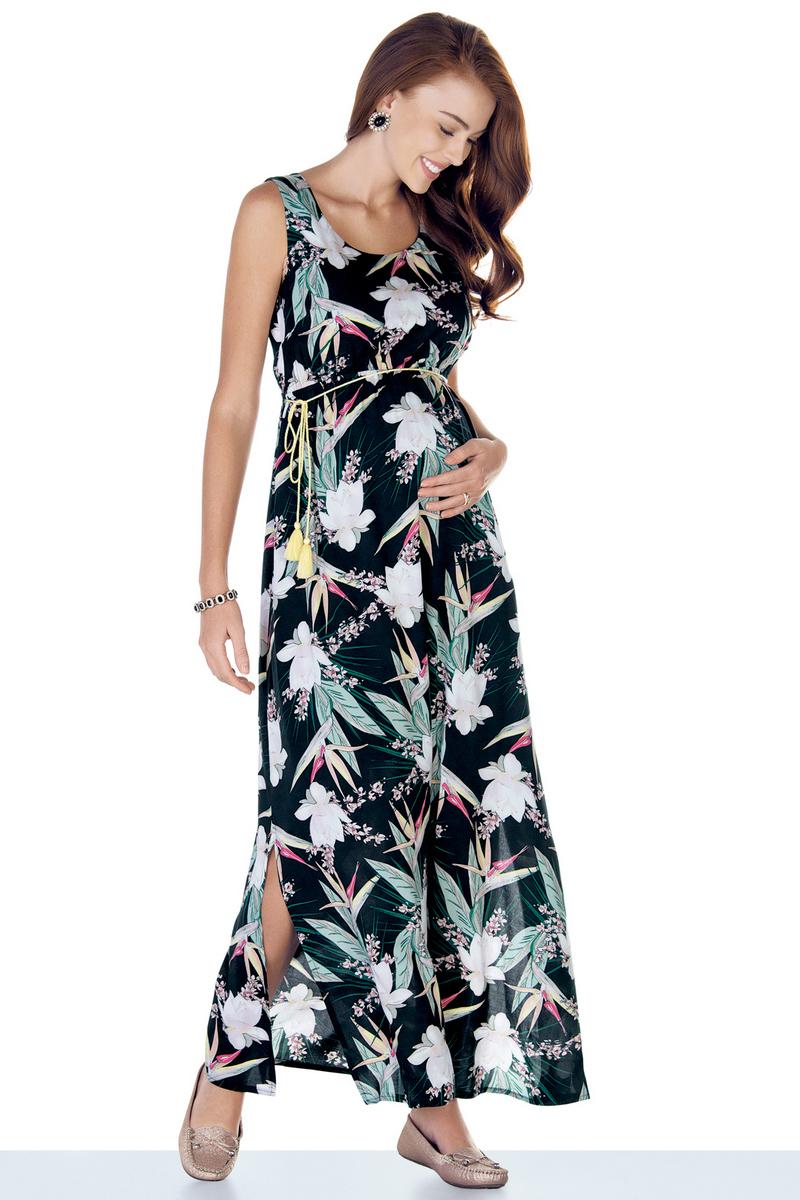 Платье для беременных 09456 тропический принт