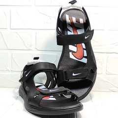 Мужские сандали босоножки черные Nike 40-3 Leather Black.